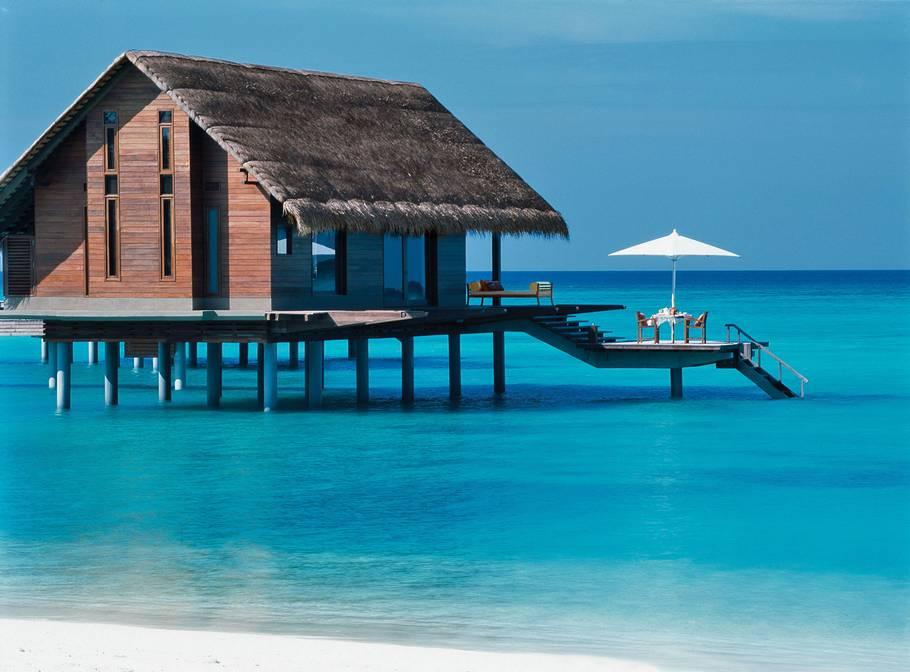 Bungalow sul mare alle Maldive