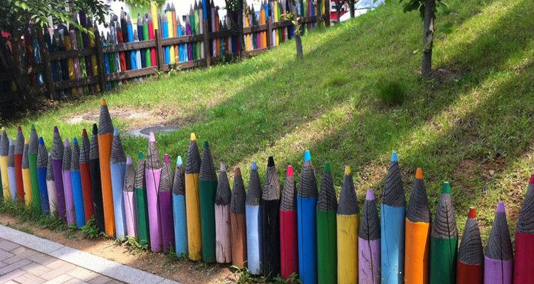 Foto della recinzione ispirata ai colori pastello