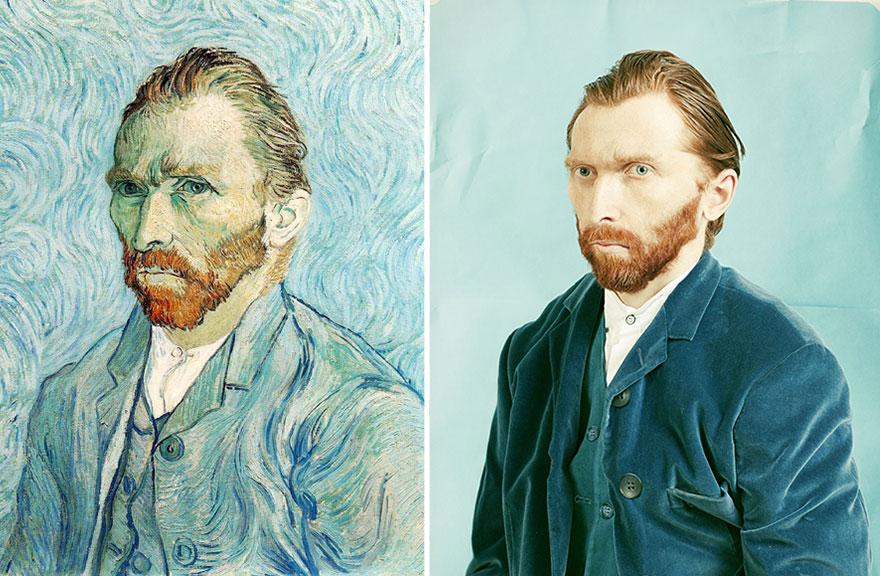 Divertente Remake del dipinto di Vincent van Gogh Autoritratto
