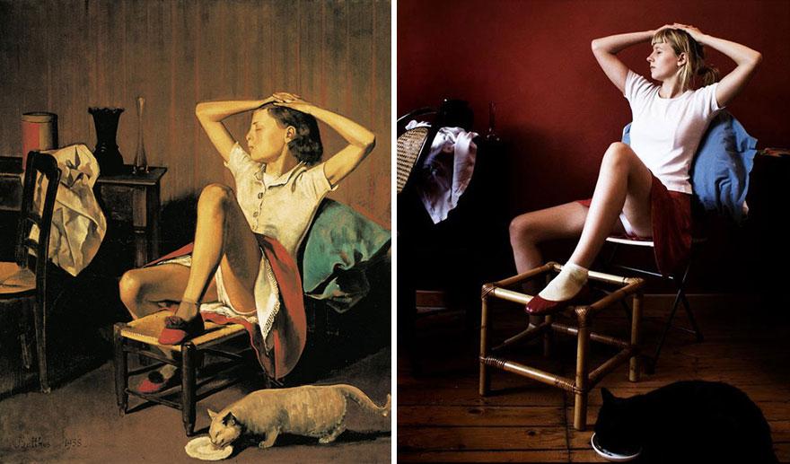 "Remake del dipinto ""Therese Revant"" di Balthus"