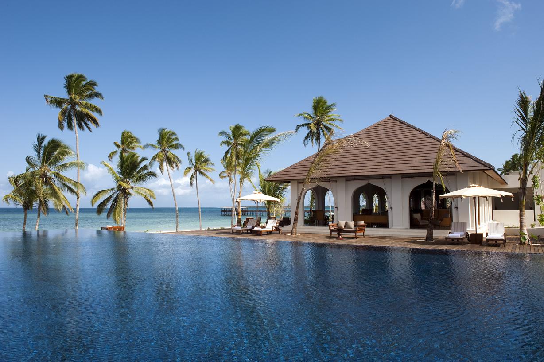 Foto della piscina del resort The Residence Zanzibar in Tanzania
