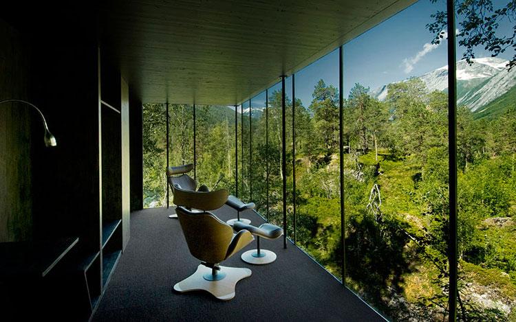 Foto della zona relax del Resort Juvent Landscape in Norvegia