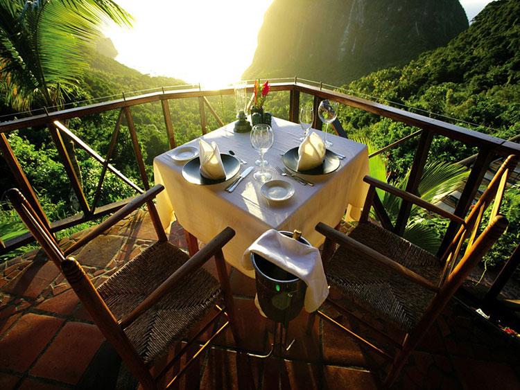 Dettaglio del terrazzino del Ladera Resort