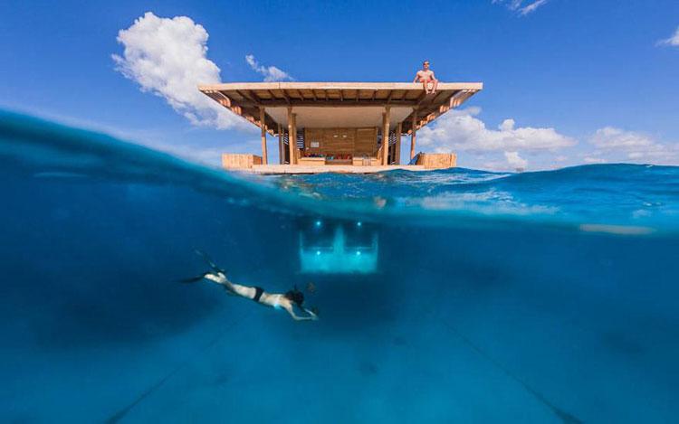 Foto subacquea del Manta Resort a Zanzibar