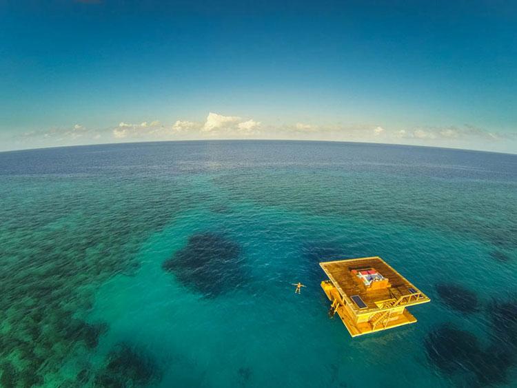 Foto dall'alto del Manta Resort a Zanzibar