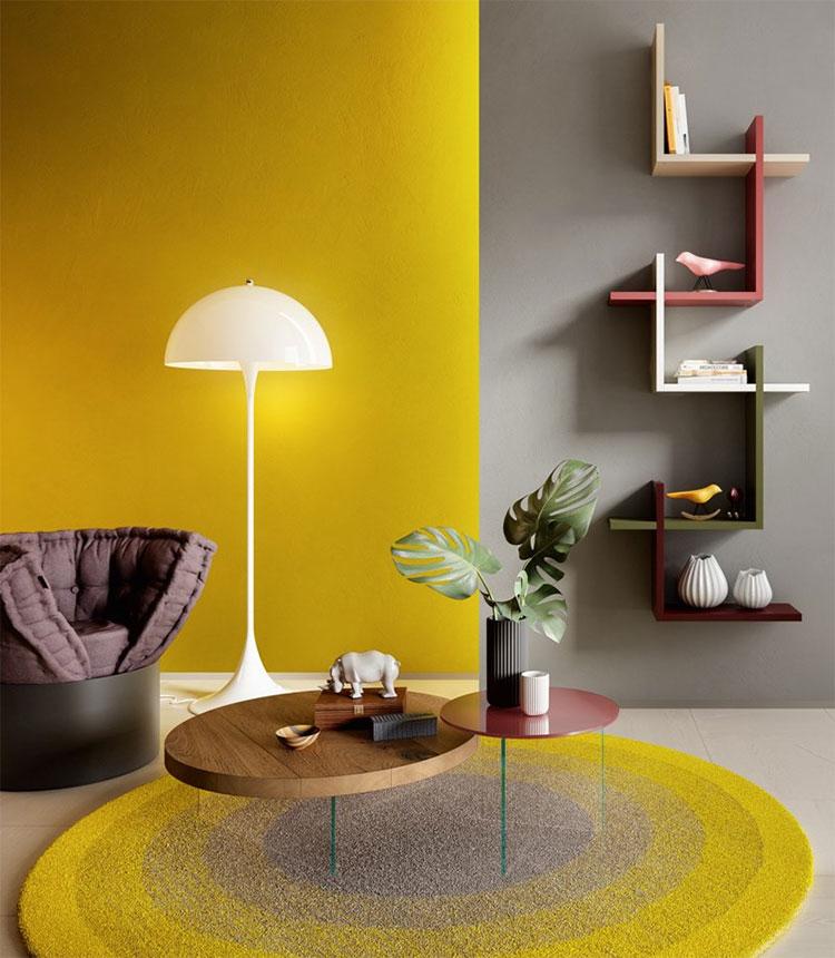 Modello di tavolino basso da salotto particolare n.15