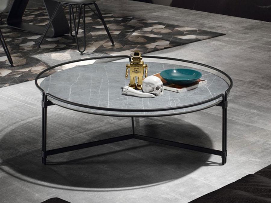 Modello di tavolino basso da salotto particolare n.16