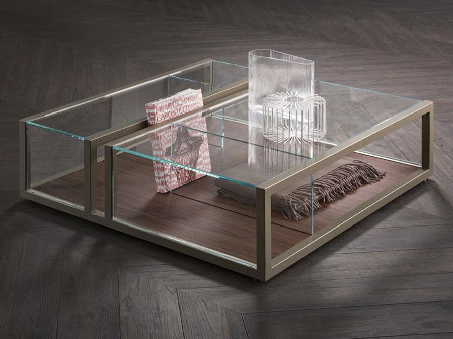 Modello di tavolino basso da salotto particolare n.18