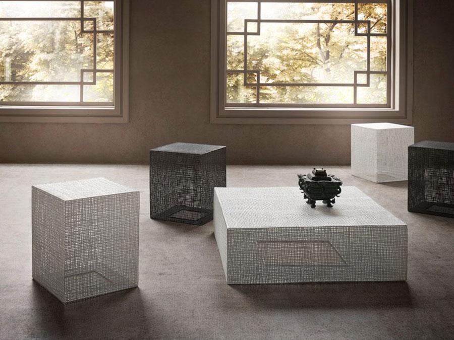 Modello di tavolino basso da salotto particolare n.19