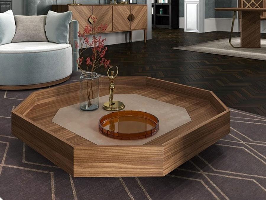 Modello di tavolino basso da salotto particolare n.25