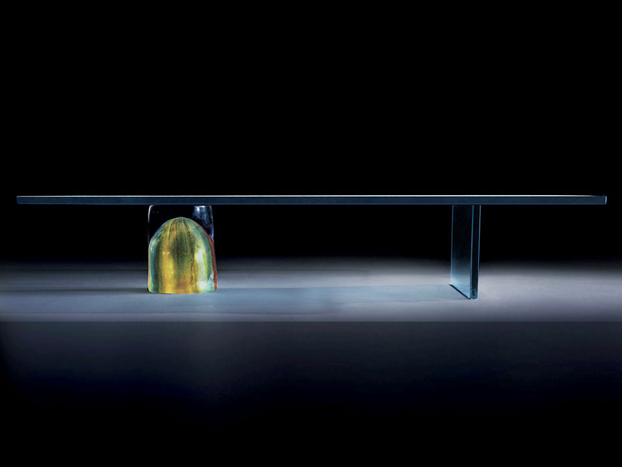 Modello di tavolino basso da salotto particolare n.29