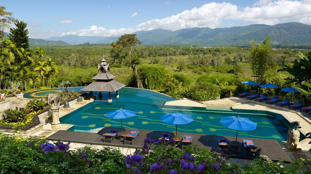Foto della piscina del Golden Triangle Resort in Thailandia