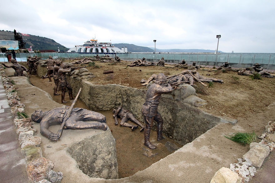 Immagine dell'installazione dedicata alla guerra mondiale in Turchia