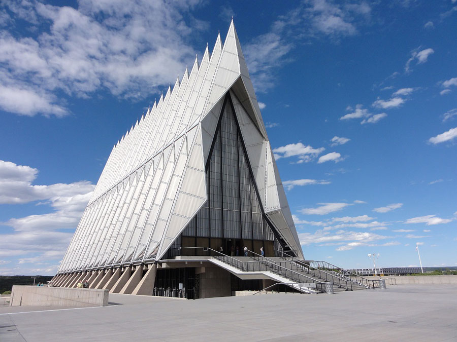 Foto della Cappella dei Cadetti in  Colorado (USA)