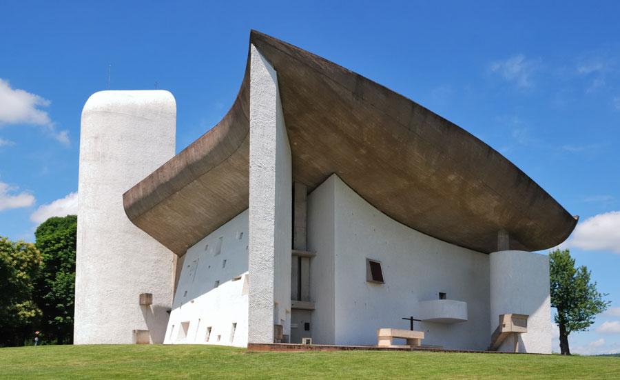 Foto della cappella di Notre Dame du Haut a Ronchamp