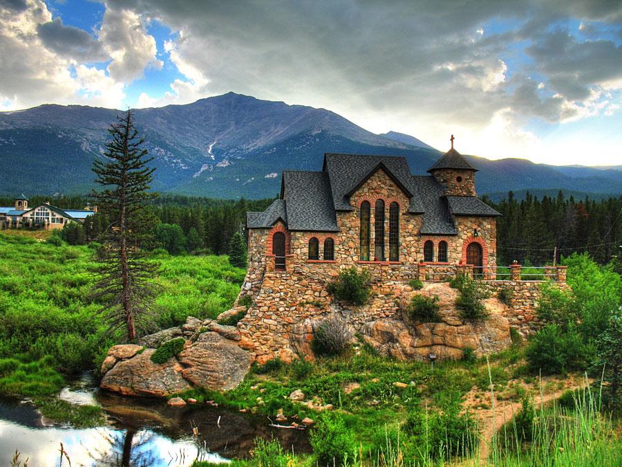 Foto della cappella sulla Roccia in Colorado