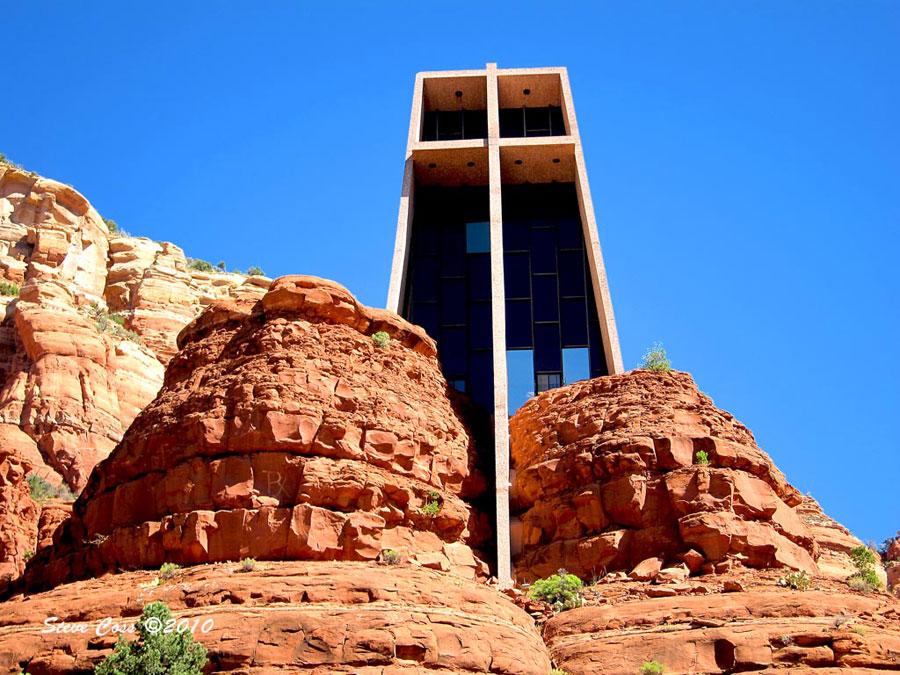 Foto della cappella nella Roccia in Arizona