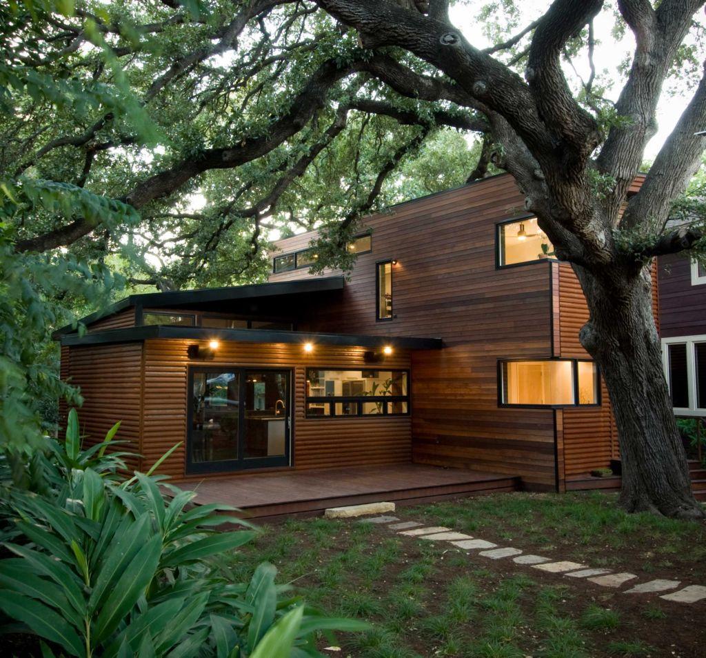 Foto della casa di legno in stile moderno n.01