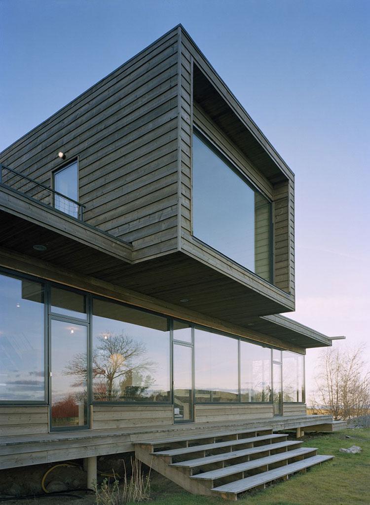 Foto della casa di legno in stile moderno n.03