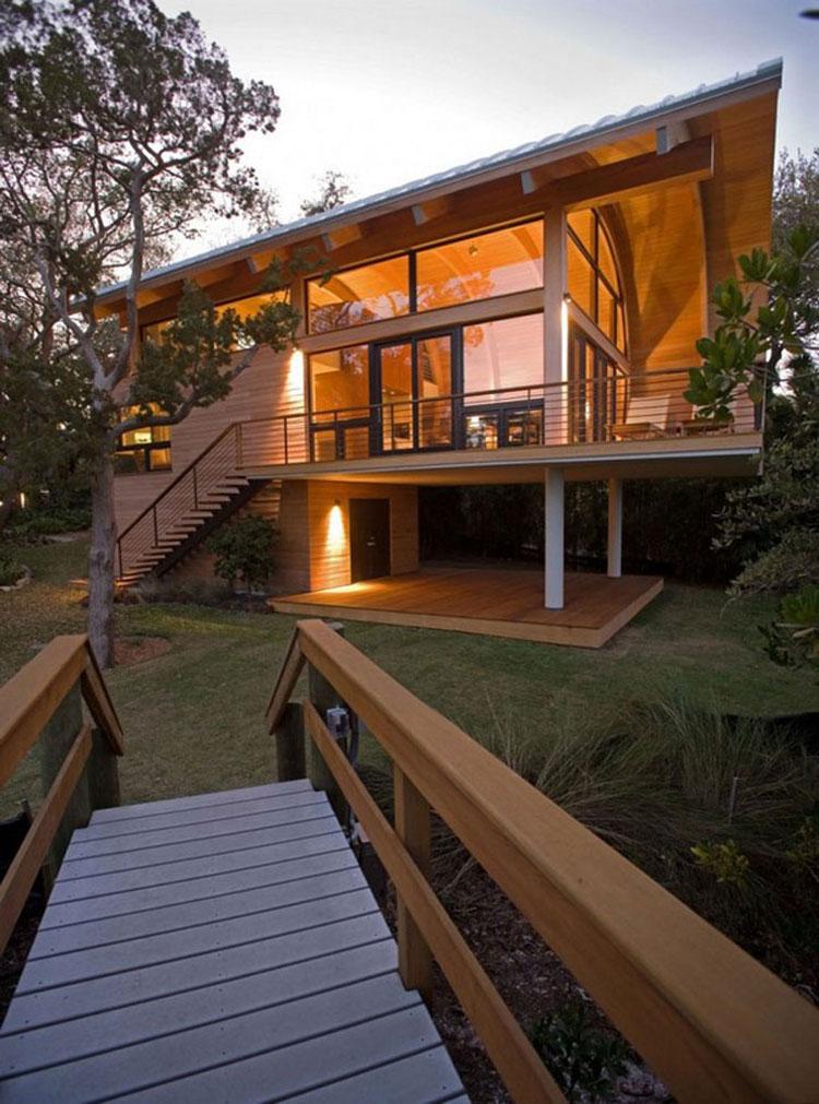 Foto della casa di legno in stile moderno n.04