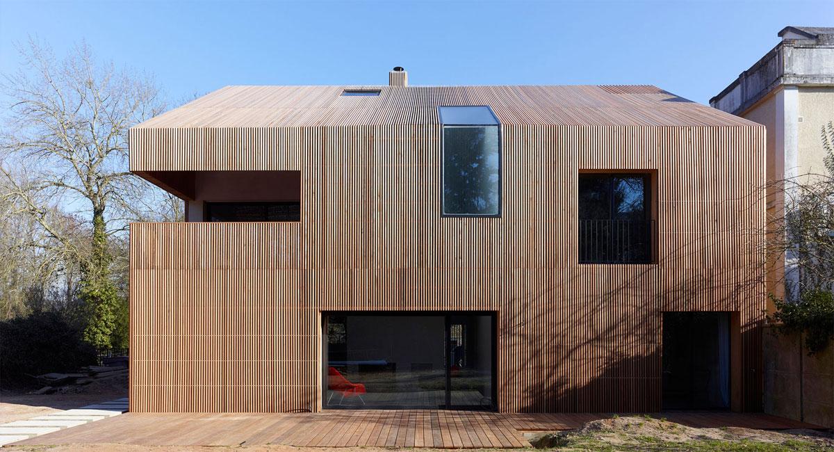 Foto della casa di legno in stile moderno n.05