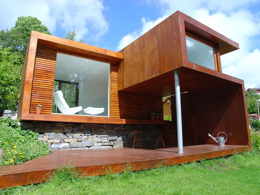 Foto della casa di legno in stile moderno n.06