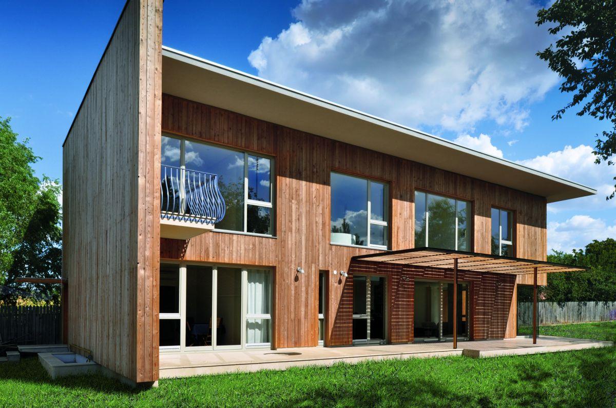 Foto della casa di legno in stile moderno n.07