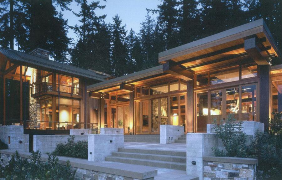 Foto della casa di legno in stile moderno n.09
