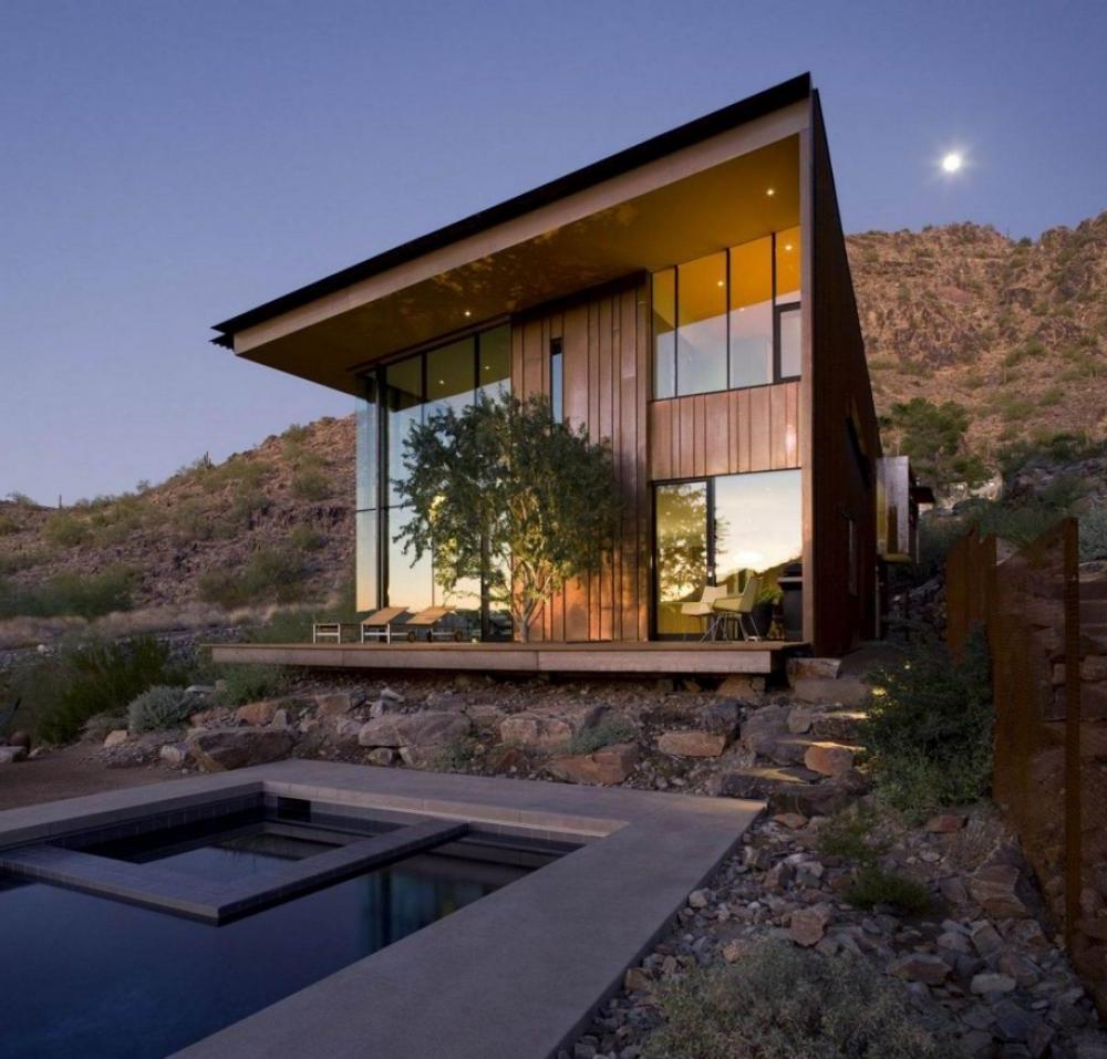 20 case di legno dal design moderno for Foto di case in legno