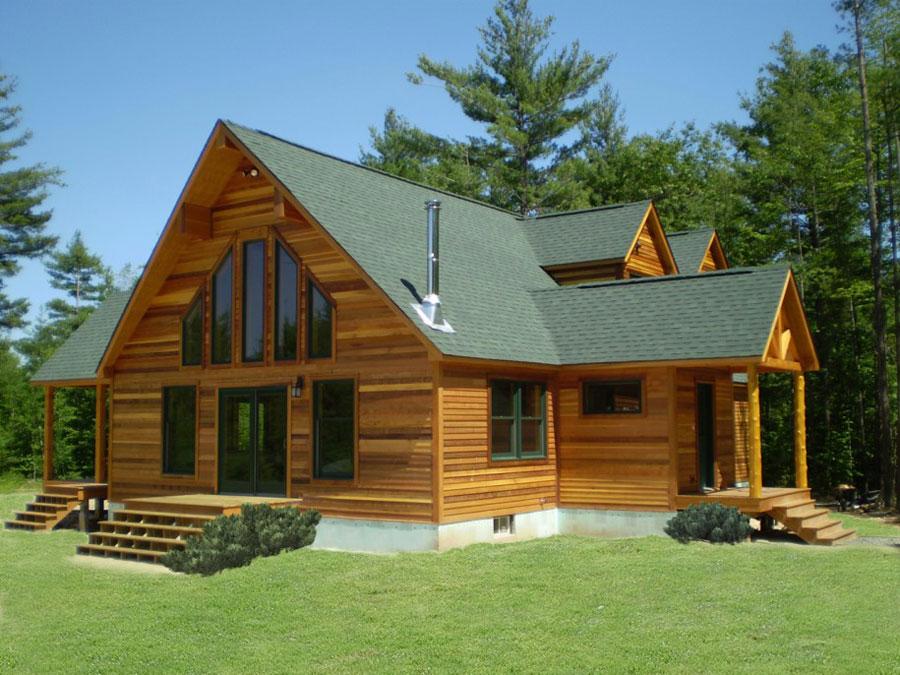 Foto della casa di legno in stile moderno n.14