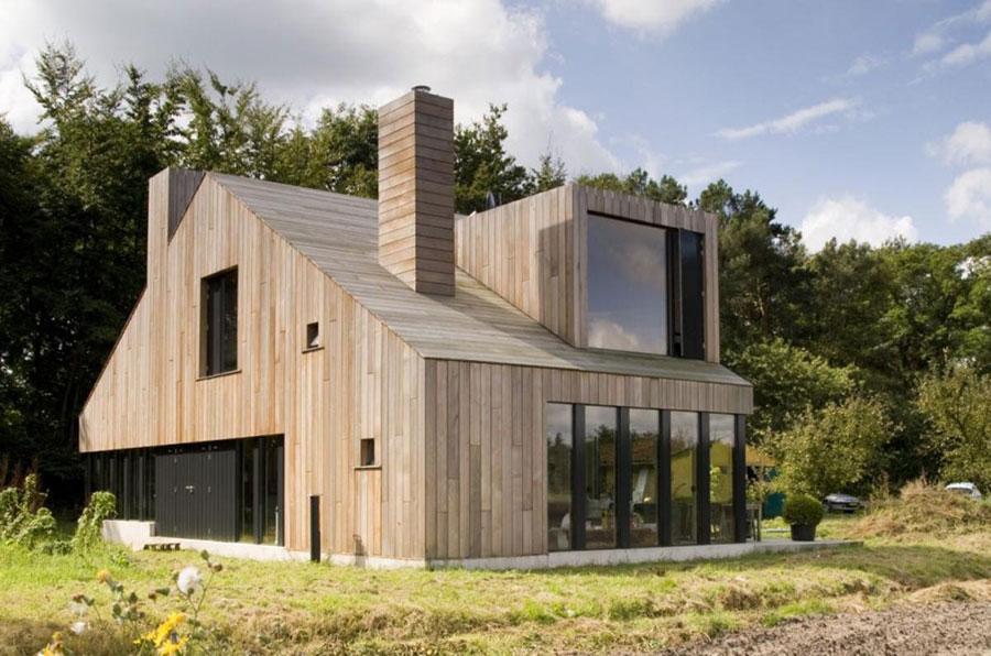 Foto della casa di legno in stile moderno n.20