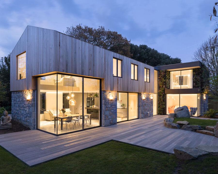 Foto della casa di legno in stile moderno n.23