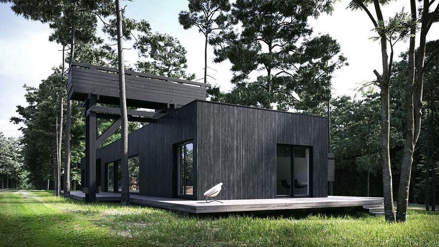 Foto della casa di legno in stile moderno n.24