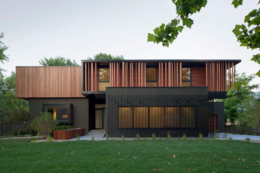 Foto della casa di legno in stile moderno n.25
