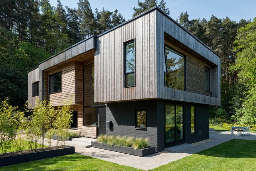 Foto della casa di legno in stile moderno n.26