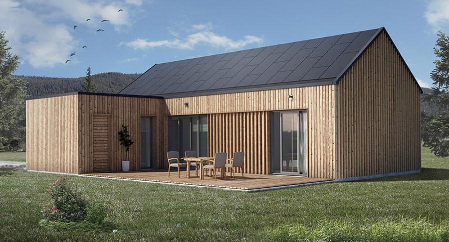 Foto della casa di legno in stile moderno n.27