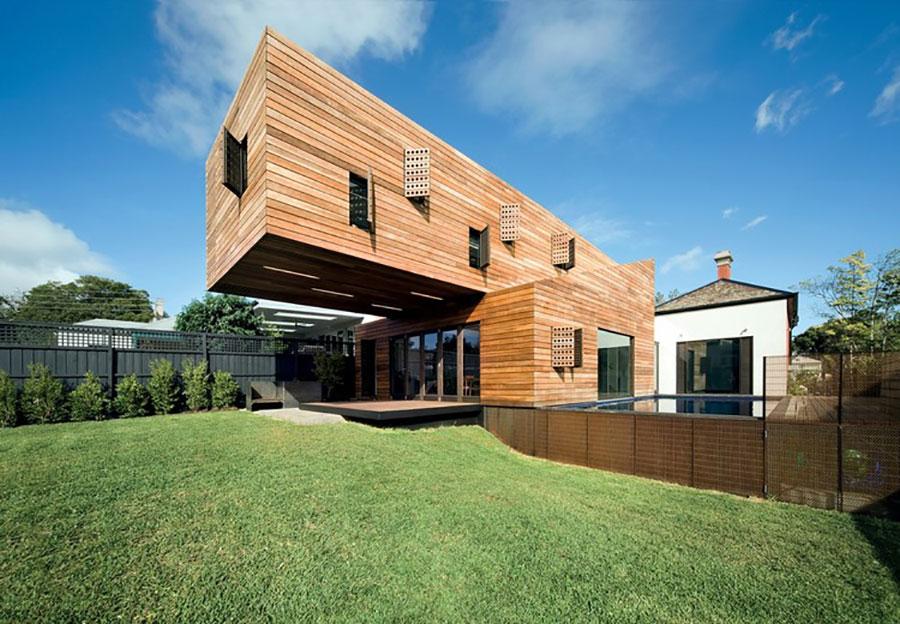 Foto della casa di legno in stile moderno n.28
