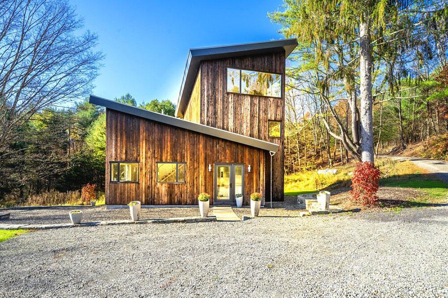 Foto della casa di legno in stile moderno n.29