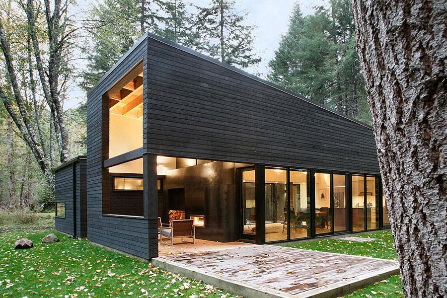 Foto della casa di legno in stile moderno n.31