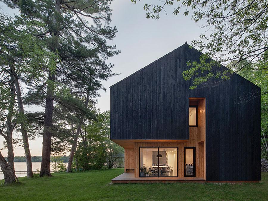 Foto della casa di legno in stile moderno n.33