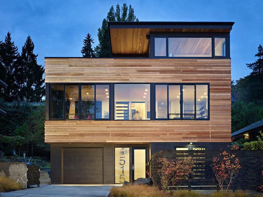 Foto della casa di legno in stile moderno n.35