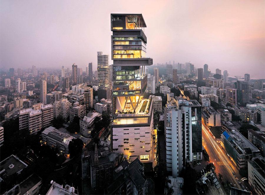 La casa più costosa al mondo è Antilia a Mumbai