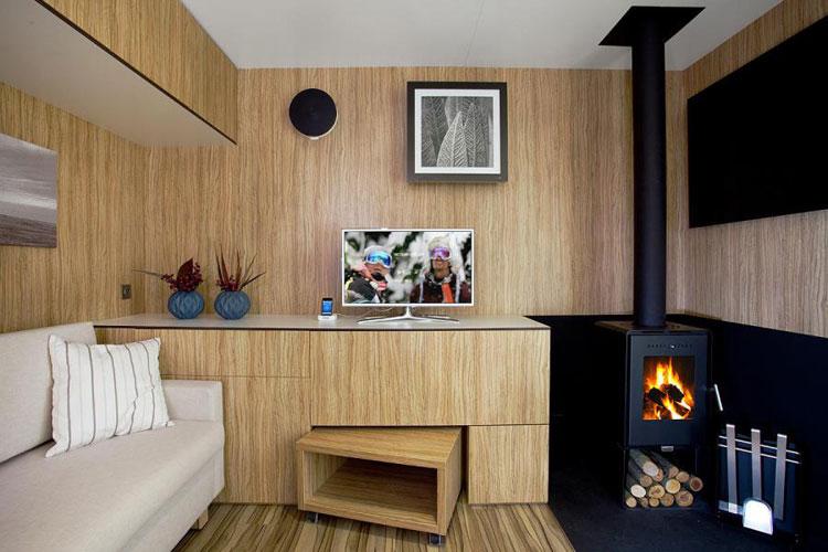 Foto del salotto della casa prefabbricata 2 PLUS Classic