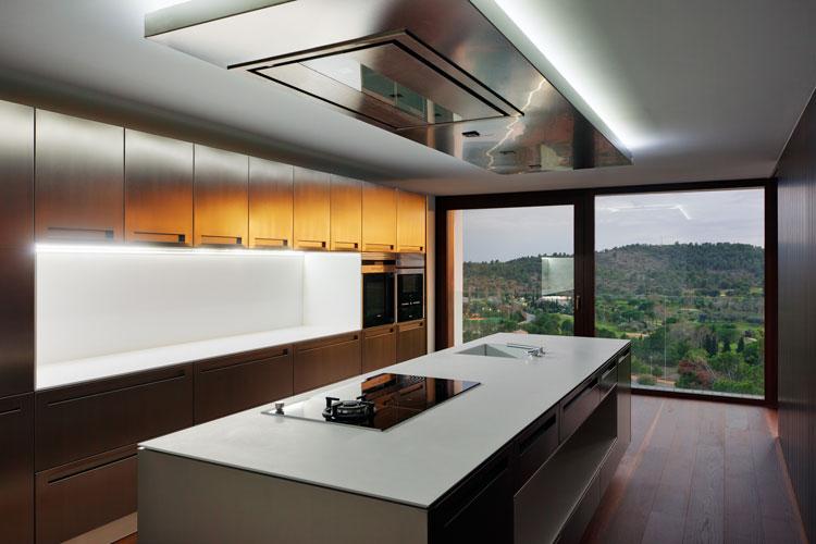 Particolare della cucina della casa prefabbricata BF House