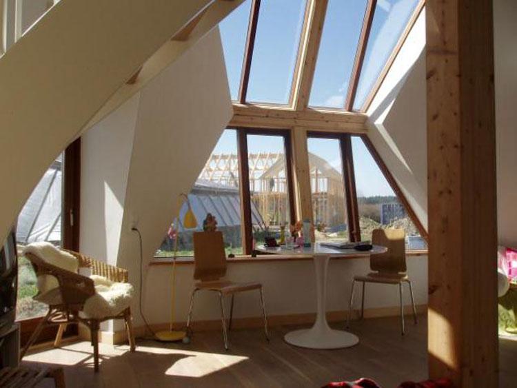 Foto dell'interno della casa prefabbricata Easy Dome