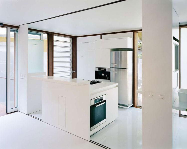 Foto della cucina della casa prefabbricata LoftCube