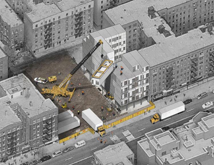 Esempio di costruzione di un palazzo The Stack