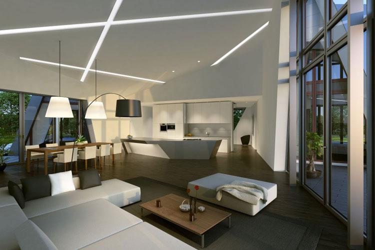 12 esempi di bellissime case prefabbricate moderne for Interni casa moderna