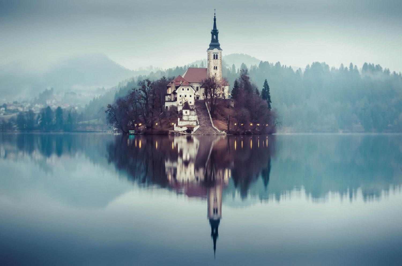 Immagine del castello di Bled in Slovenia