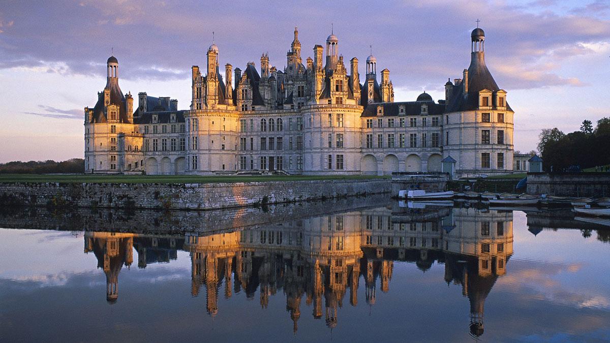 Immagine del castello di Chambord in Francia